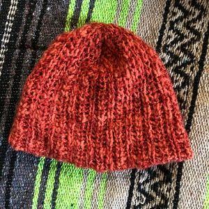 Orange Knit Beanie Hat by Stitches